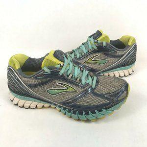 Brooks Women's Ghost 6 Running Shoe Gray Teal Blue